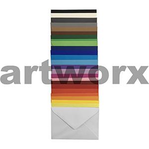 20pc Rainbow 120gsm 130x180mm Envelope