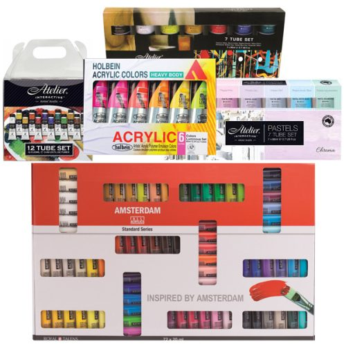 Assorted Acrylic Paint Sets