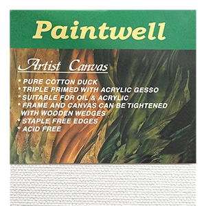 18mm Thin Frame Paintwell Student Canvases