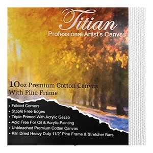 Titian 38mm Stretched Artist Grade Canvases Thick Cotton