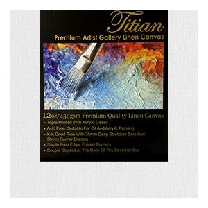 Titian 38mm Linen White Gesso Premium Grade Thick Canvases