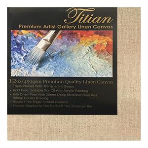 Titian 38mm Linen Transparent Gesso Premium Grade Thick Canvases