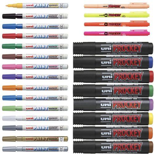 Uniball Paint, Prockey & Super Ink Markers