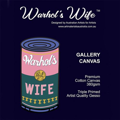 Warhol's Wife Cotton PREMIUM GRADE Stretched Canvas