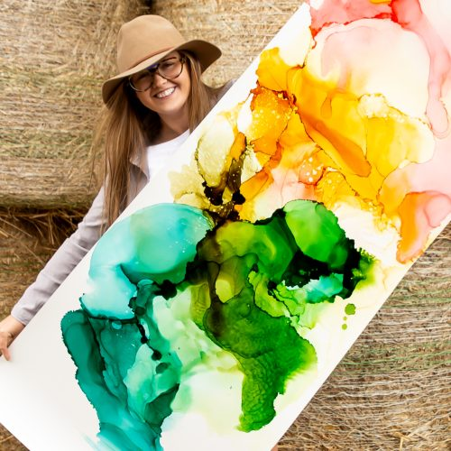 Alcohol Ink Painting Online with Artist Jessica Baker