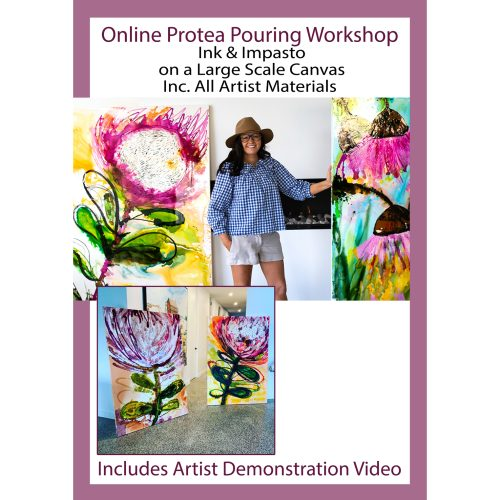 Protea Pouring Painting Workshop with artist Jessica Baker