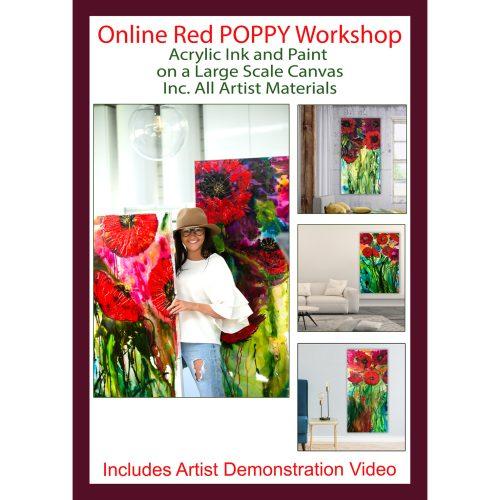 Red Poppy Online Workshop with artist Jessica Baker