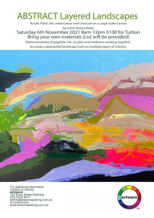 Abstract Landscape Art Class with artist Jessica Baker